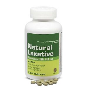 1000-Natural-Senna-Laxative-8-6mg-Tablets-pills-Compare-to-Senokot-EXP-04-2021