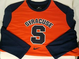Details About Nike Dri Fit Syracuse Orangemen Basketball Ls Shirt Size S Mens Orange Blue