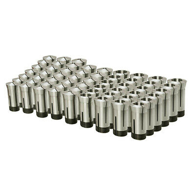 """57 pc 5C ROUND Collet Set 1//8/'/' to 1/'/' by 64ths Machinist Tool Set .0006/"""" TIR"""