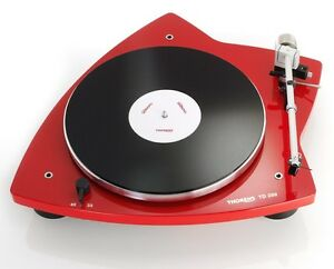 THORENS-TD-209-Turntable-Gloss-Red-pre-mounted-audio-technica-cartridge-TD209
