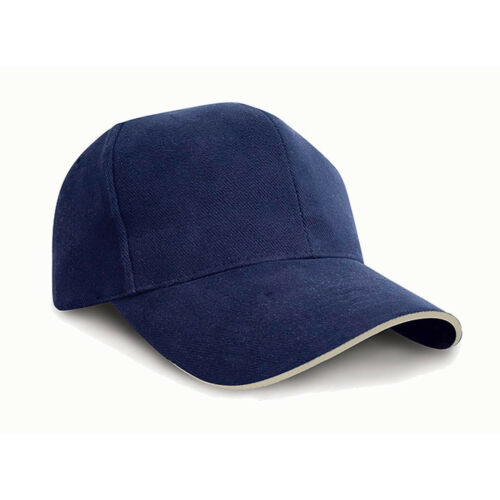 Result Pro-Style Heavy Brushed Pre-curved Peak One Size Cotton Mens Cap Hat