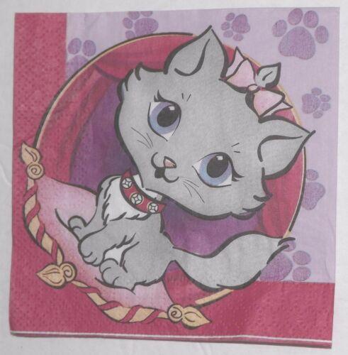 Purr-Fect Kitty Beverage Napkins Pet Kitten Party 16p Tea Time Birthday Party
