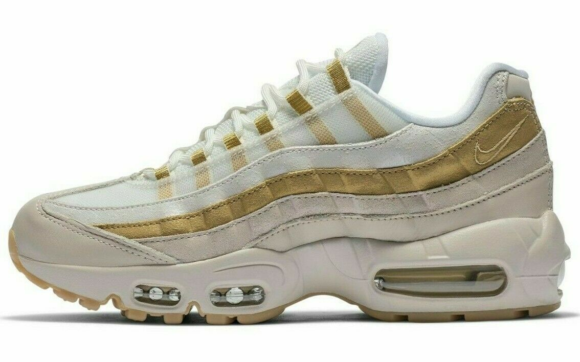 NIKE AIR MAX 95 WHITE gold SIZE 7.5 BRAND BRAND BRAND NEW FAST SHIPPING (AV8428-001) 43a7aa