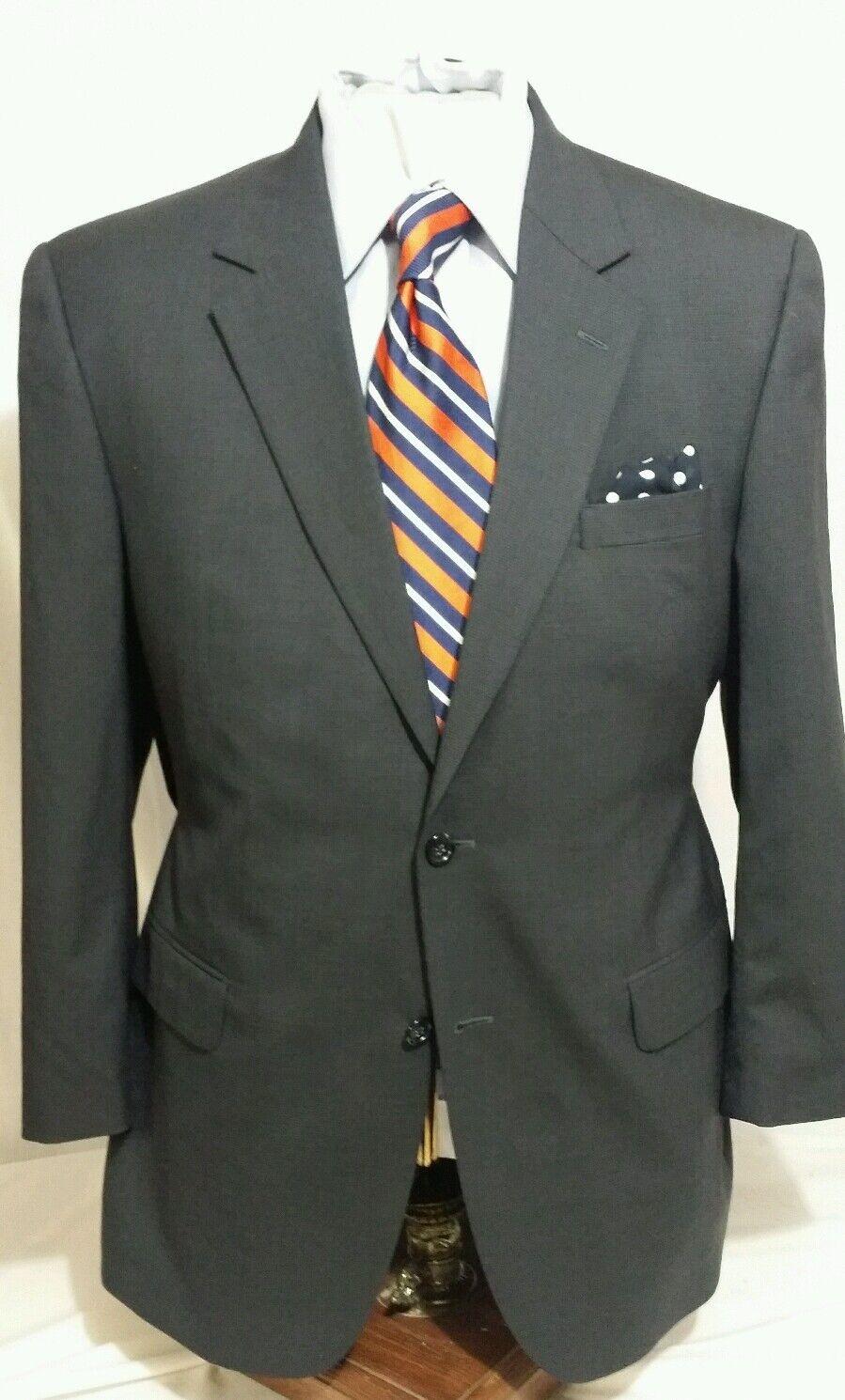 Mens JOS.A.BANK bluee 2 button single vent suit sz 43R