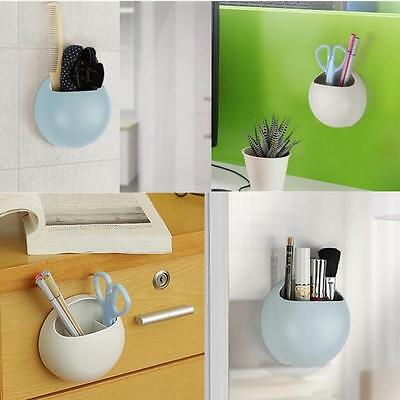 Toothpaste Cups Organizer Kitchen Bathroom Wall Suction Soapbox