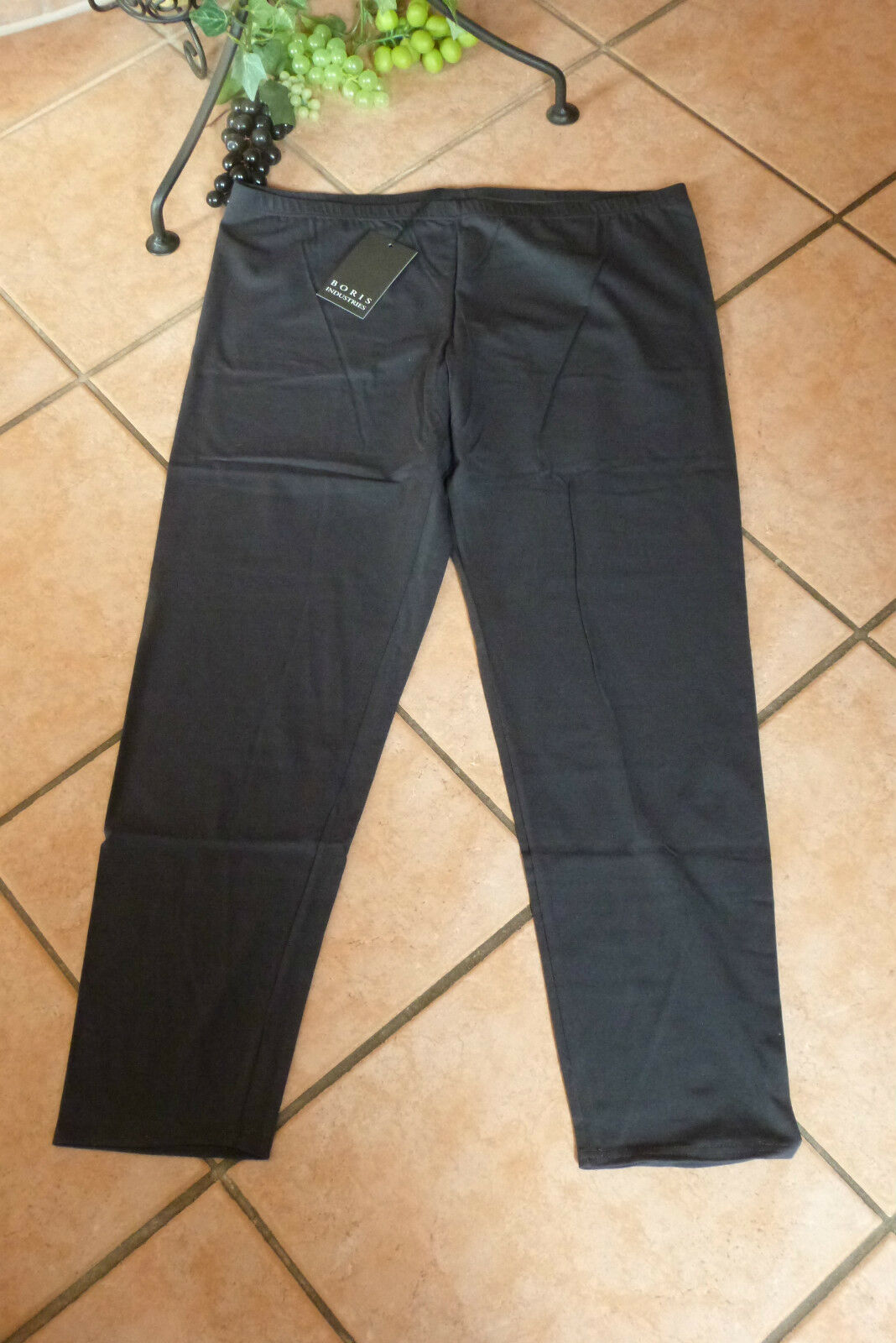 BORIS INDUSTRIES Leggings 46 48 (4) NEU  grey Baumwolle Stretch LAGENLOOK