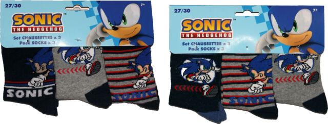 Sonic the Hedgehog Childrens 3Pk Socks By BestTrend