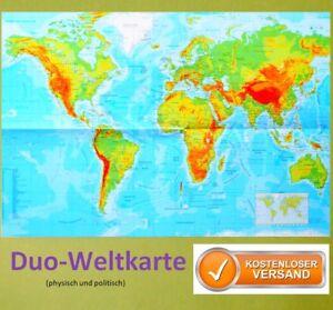 Die Welt Karte.Details Zu Poster Die Welt Landkarte Staaten Der Erde Physisch Politisch A2 Plakat Karte