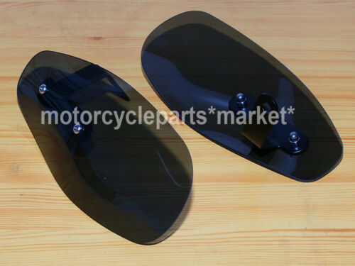 Motorcycle Wind Hand Guard Protector Shield 4 Harley Sporster XL 883 1200 Smoke