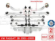 FOR VW PASSAT 01-05 FRONT SUSPENSION ARMS LINKS TRACK ROD KIT GERMAN QUALITY