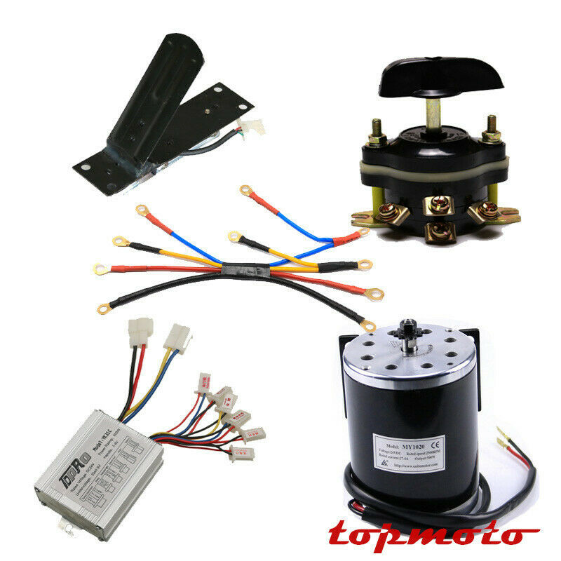 500w 24v Brush Speed Control Motor Pedal Reverse Switch Wire Harness ATV Scooter