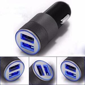 UNIVERSALE-DOPPIA-2-PORT-USB-12V-DUAL-CARICABATTERIA-DA-AUTO-PRESA-ACCENDISIGARI