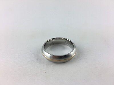 SCOTT KAY ARTISTE 6mm Brute Cobalt /& 14k Gold Band Ring SIZE 11 Comfort Fit