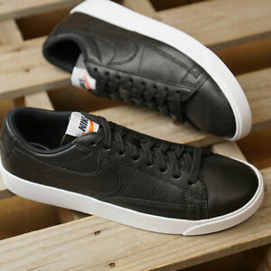 Nike-Blazer-Low-UK-Size-5-Womens-Trainers-Leather-Shoes-Black-EUR-38-5
