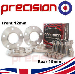 Staggered-Spacers-12-15mm-with-Bolts-Nuts-and-Locks-for-BMW-3-Series-2011-On