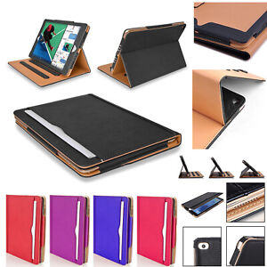 BLACK-amp-TAN-Magnetic-Leather-Stand-Case-For-iPad-234-Air-Mini-New9-7-034-2017-2018
