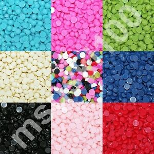 1000 half pearls round flat back acrylic gems nail art