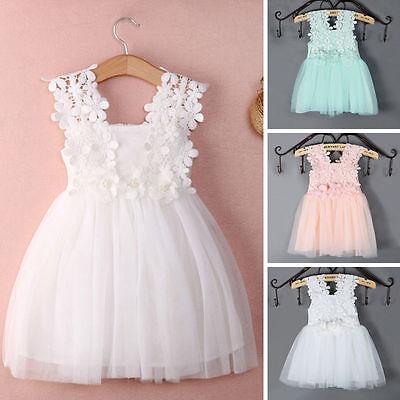 7024766b9e17f Baby Dress Party Lace Tulle Tutu Flower Girls Wedding Prom Bridesmaid  Dresses | eBay
