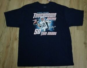 New England Patriots Tom Brady 2007 Touchdown Record 50 TD S T-Shirt ... 53e31c9d0