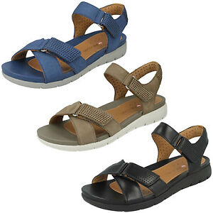 b7289796c27 Image is loading UN-SAFFRON-LADIES-CLARKS-UNSTRUCTURED-CASUAL-RIPTAPE-STRAP-
