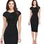 Elegant-Women-Office-Formal-Business-Work-Party-Sheath-Tunic-Pencil-Mini-Dresses thumbnail 12