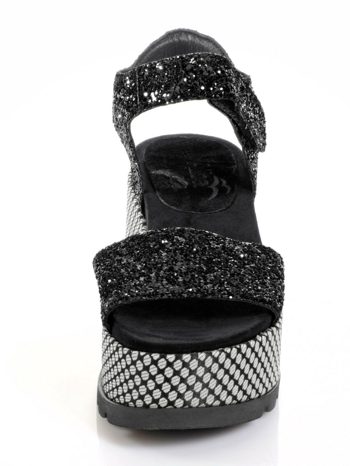 Marken Sandaletten schwarz in 37 Glitter-Optik  Gr. 37 in 0518385456 d31d4b