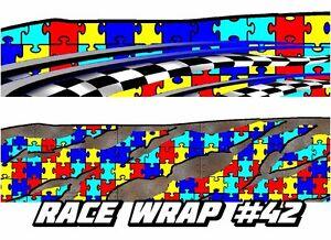 RACE CAR GRAPHICS  Autism Awareness Wrap Vinyl Decal IMCA Late - Vinyl decals for race cars