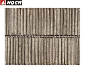 NOCH-H0-56664-3D-Kartonplatte-Mauerplatte-034-Bretterwand-034-1-m-57-28-NEU
