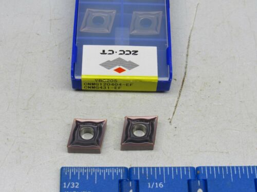 NEW GRADE YBG205 CNMG120404-EF CARBIDE INSERTS 10 PCS ZCC CNMG-431-EF