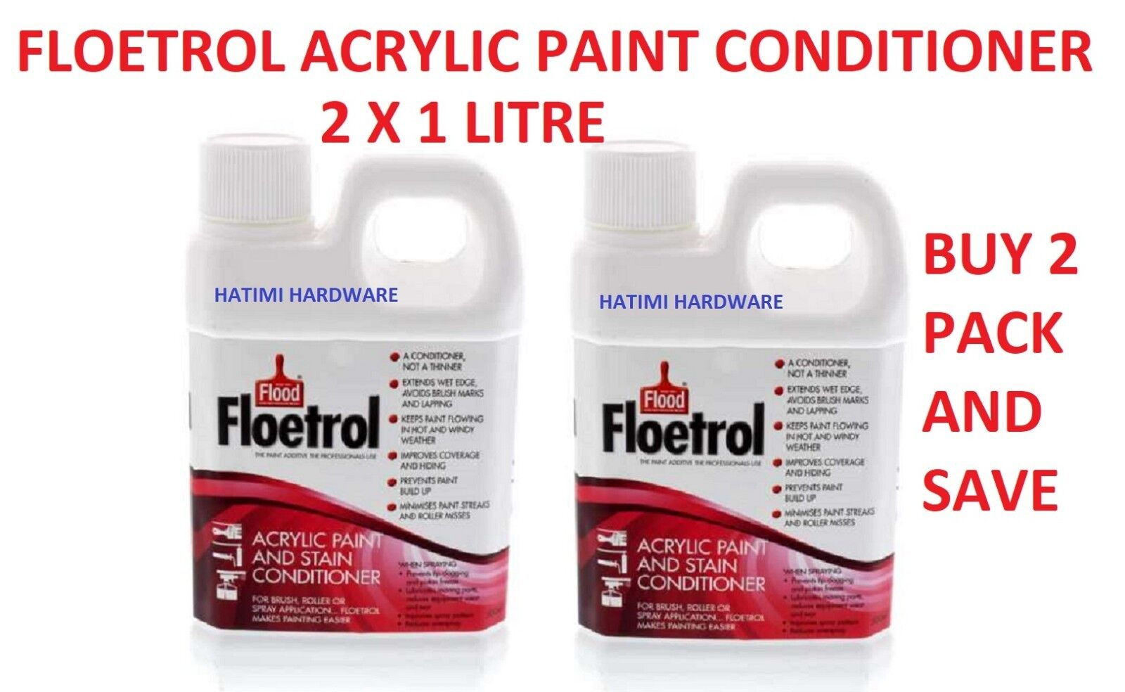 Floetrol Acrylic Paint Stain Conditioner 1 Litre X 2 Ebay