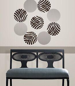 ANIMAL-INSTINCT-DOTS-Wall-Decals-Zebra-Giraffe-Print-Room-Decor-Stickers-Polka