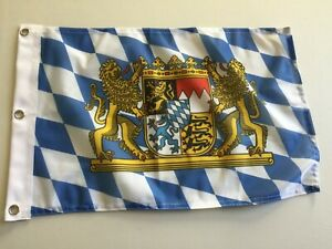 "12/"" x 18/"" Bavaria Germany with Lions Bavarian German Oktoberfest  Flag 14"