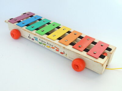 Vintage Portable Toy Xylophone  by T.T Toys
