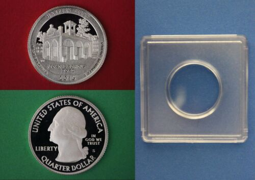 Clad 2016 S Harpers Ferry Proof Quarter With 2x2 Snap DCAM Combined Shipping