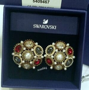 55aa30d43 Image is loading Swarovski-Millennium-Clip-Earrings-Multi-colored-Crystal -Authentic-