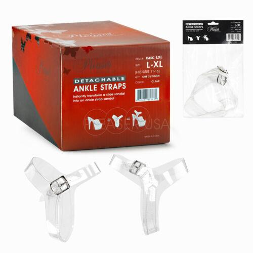 Pleaser Clear amovible Cheville Sangles 1 Paire L//XL Convient UK 8-UK 13