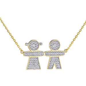 Twins boy girl pendant kids mother necklace sterling 925 silver 14k image is loading twins boy girl pendant kids mother necklace sterling aloadofball Images
