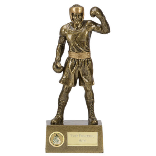 "BOXING Boxer Trophy 8.5/"" or 9.5/"" FREE ENGRAVING Engraved Knockout Statue Award"