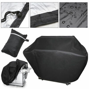 BBQ-Gas-Grill-Cover-57-034-Barbecue-Waterproof-Outdoor-Heavy-Duty-Protection-Black
