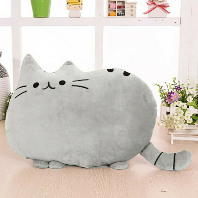 Lovely Gift Plush Toy Soft Cartoon Squishy Chubby Cute Cat Animal Pillow Cushion