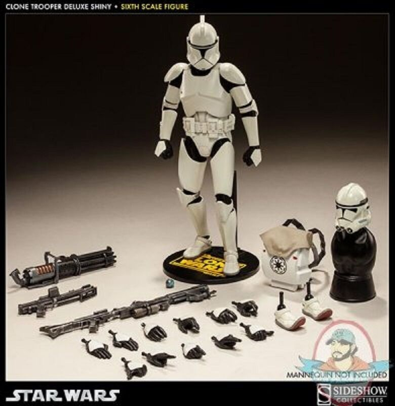 1 6 Sixth Scale Star Wars Clone Trooper Deluxe 'Shiny' Sideshow Collectibles