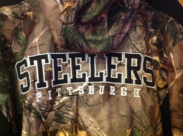 e6c4a1b59 NWT - Pittsburgh Steelers NFL Camo Hoody Sweatshirt Jacket Size Medium