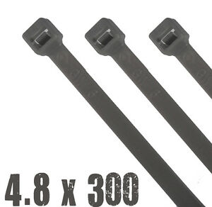16 PACK OF SILVER WHEEL TRIM CABLE TIES - 300mm LONG x 4.8mm WIDE - FREE POST