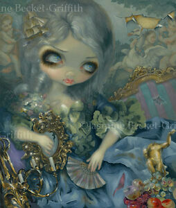Jasmine-Becket-Griffith-art-print-SIGNED-french-rococo-pop-Delusions-of-Grandeur