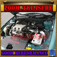 Black Blue 1997-2003/97-03 Chevy Malibu 3.1l V6 Full Cold Air Intake Kit 3pc