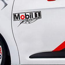 """9.5""""X 1P. MOBIL 1 RACING OIL LUBRICANT STICKER DIE-CUT DECAL VINYL RACING SPORT"""