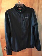 Merrell Black Men's Polyester Lined Mock Neck Zip Up Running Athletic Jacket XL