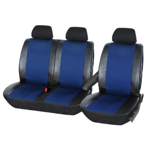 Sitzbezüge 1+2 Schonbezug für TRANSPORTER ohne Seitenairbag Schwarz//Blau AS7325