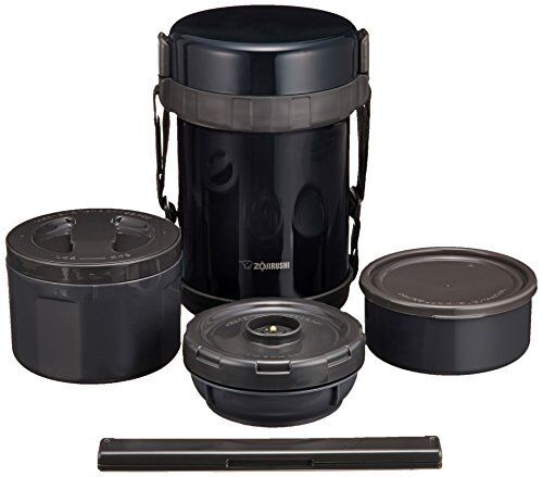 Zojirushi Stainless Thermos Food Jar Lunch Box Navy Black SL-GG18-BD