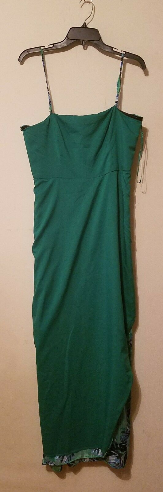 8435dbca6e ... NWT Banana Banana Banana Republic Strapless Palm Print Maxi Dress Green  sz 12 b612f7 ...